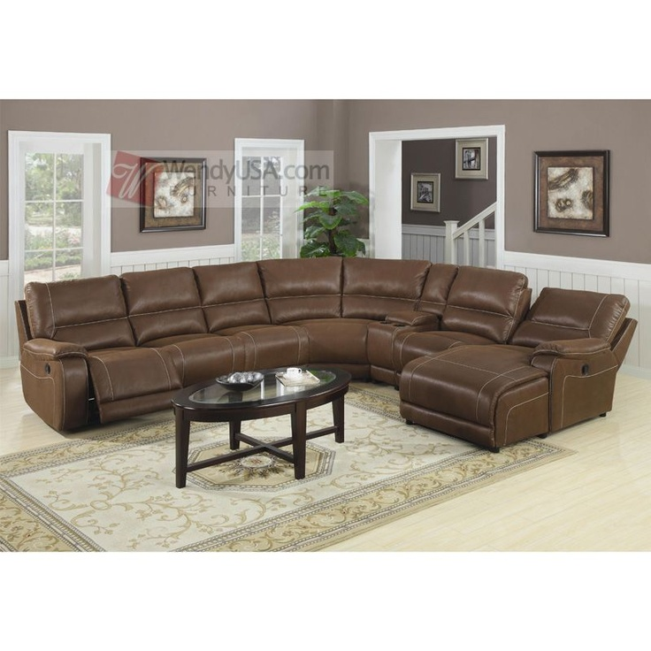54 best living room images on pinterest futon bed for Loukas leather reclining sectional sofa with reclining chaise