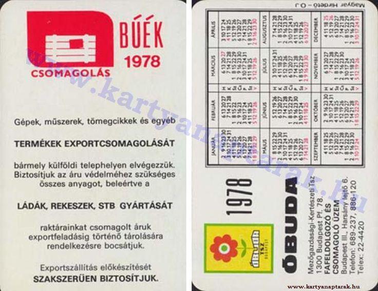 1978 - 1978_0928 - Régi magyar kártyanaptárak