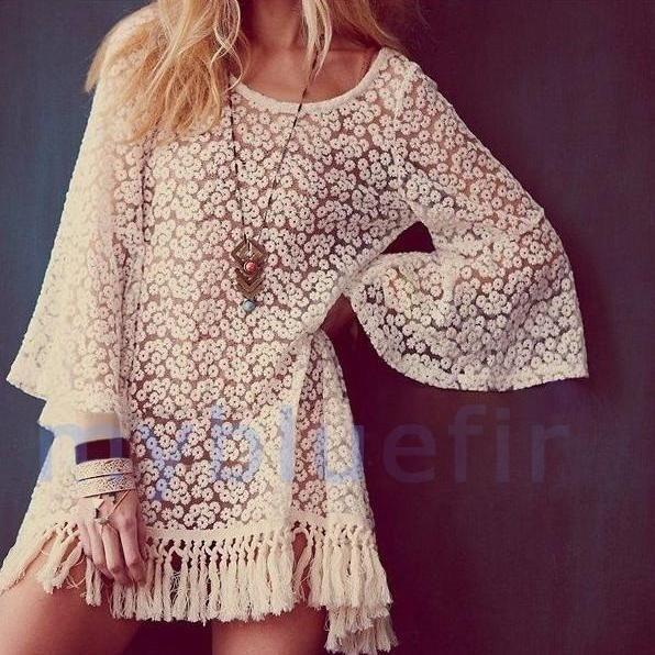 Fringed Piece Lace Dress