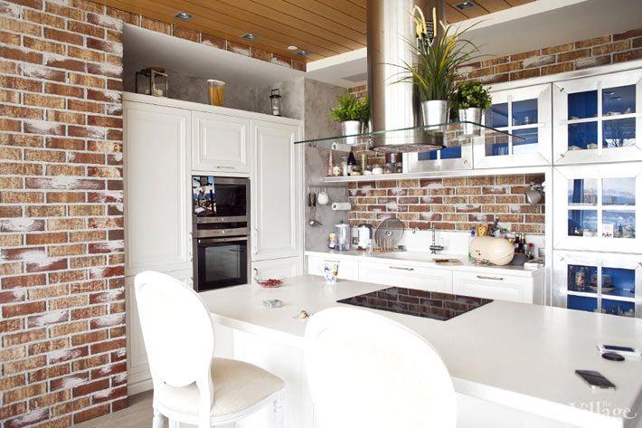 Кирпичная стена на кухне. Обсуждение на LiveInternet - Российский Сервис Онлайн-Дневников