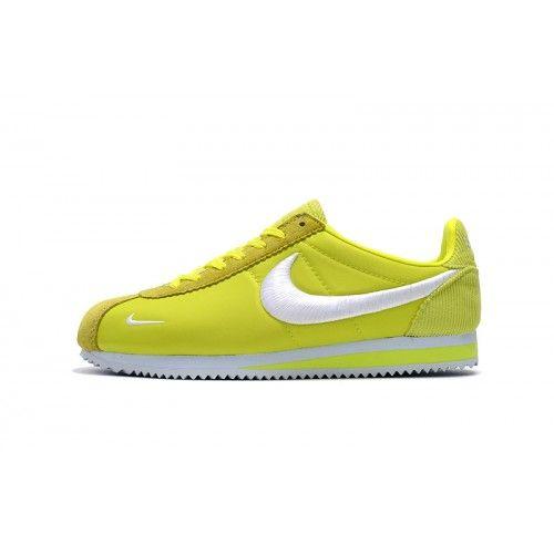 Bast Nike Cortez Herr Dam Gul Gron Loparskor