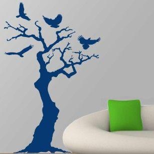 Δέντρο με πουλιά,  αυτοκόλλητο τοίχου,19,96 €,http://www.stickit.gr/index.php?id_product=474&controller=product