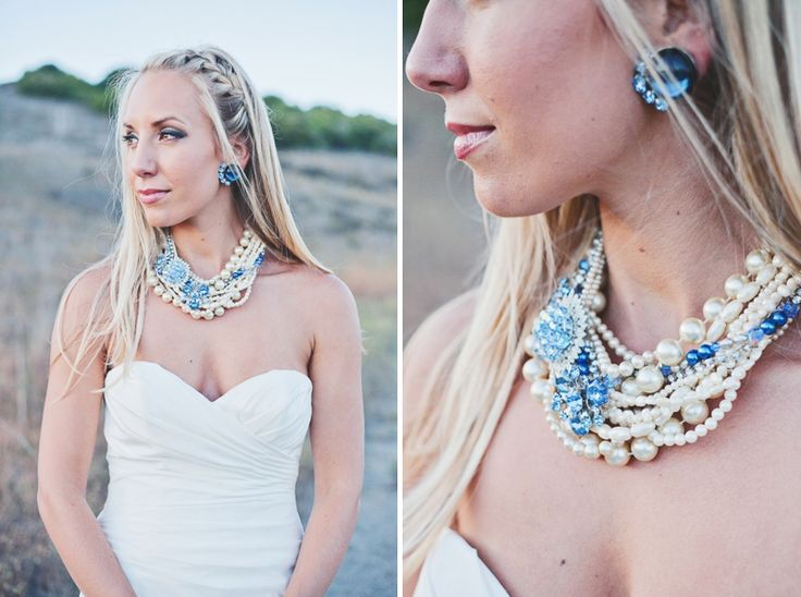 Shabby Chic Nautical Bridal Style // photo by Closer to Love Photography, Bride's Jewelry: Trigger Jewelry