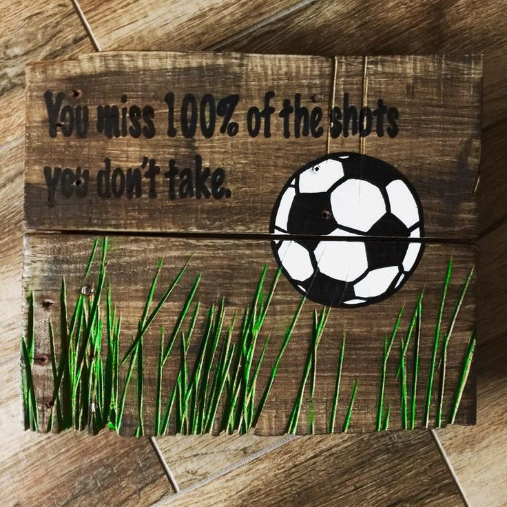 Burlap & Boards hand painted soccer pallet sign