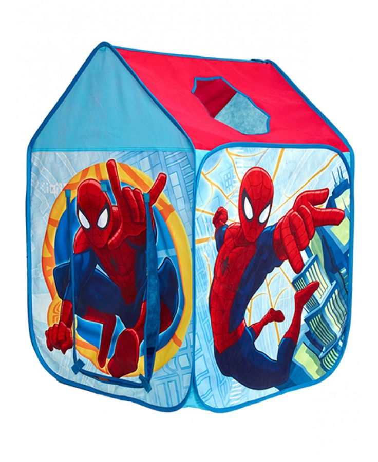 Hang out with Spiderman in this easy to use pop up play tent. Folds away compactly at night for easy storage. Free UK delivery.