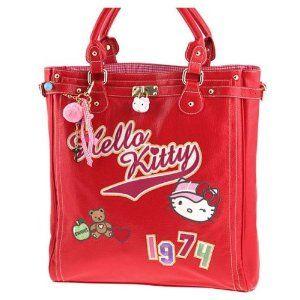 Borsa in ecopelle rossa Hello Kitty