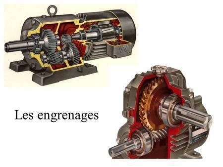 Les engrenages La chaîne d'énergie Distribuer l'énergie Energie électrique Préactionneur (contacteur…) Tension Intensité Convertir l'énergie Actionneur.