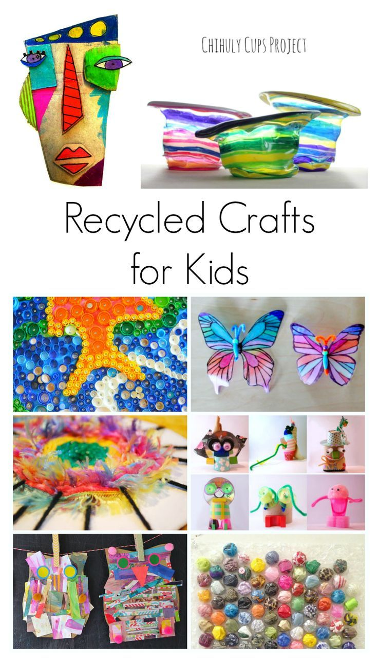 25 best recycled crafts for kids ideas on pinterest for Cool recycling projects