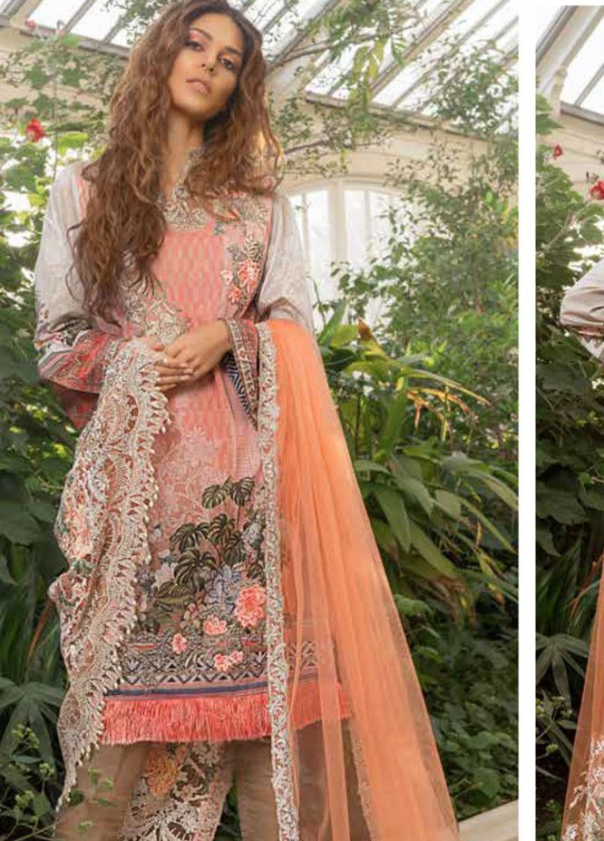 63266a29d1 Sobia Nazir Embroidered Lawn Unstitched 3 Piece Suit SN19L 5A - Spring /  Summer Collection