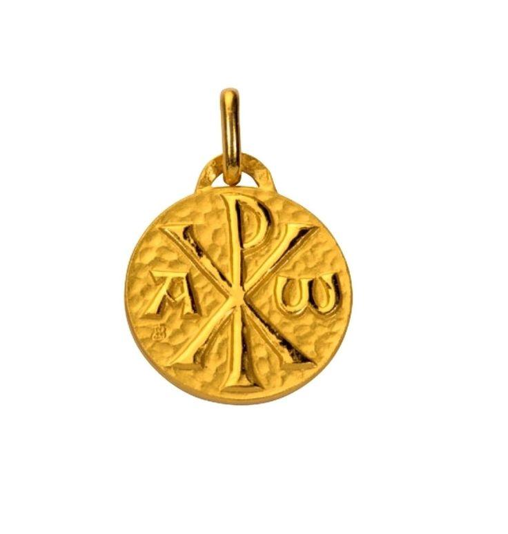 Médaille Chrisme plaqué or - La Boutique de l'Espérance - articles religieux