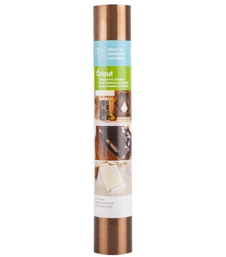 "Cricut Adhesive Foil 12""X48"" Stainless Copper 093573815621 #Cricut"