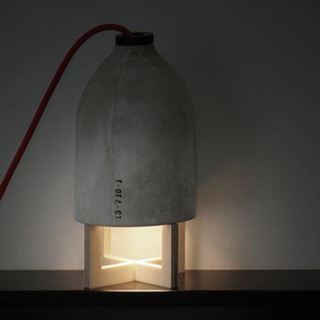 Concrete Table Lamp by 220+ | MONOQI #bestofdesign | Concrerte armature | Betonarmatuur - beton-lamp