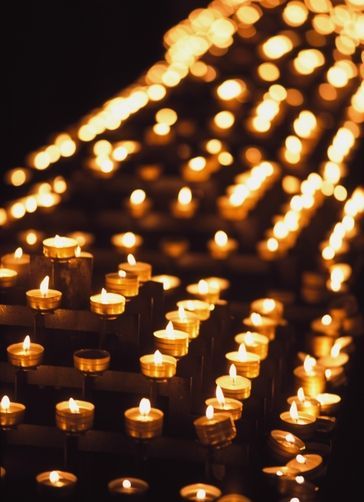 Candles In Notre Dame Cathedral