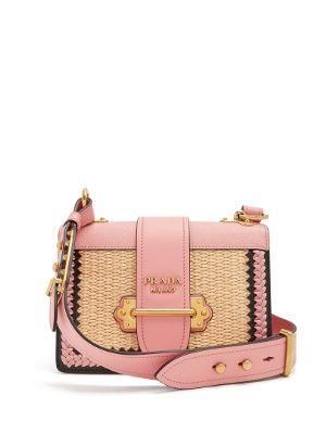 Small raffia leather bag   Prada   MATCHESFASHION.COM   Designer ... b12119043e