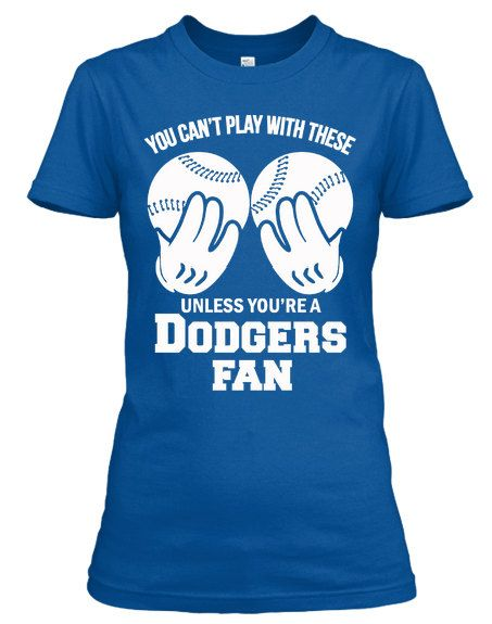 Ladies Dodgers Fan Baseball Shirt
