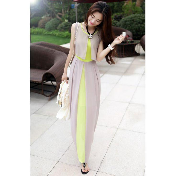 uzun #elbise #japon #style yeşil gri elbise tonların da