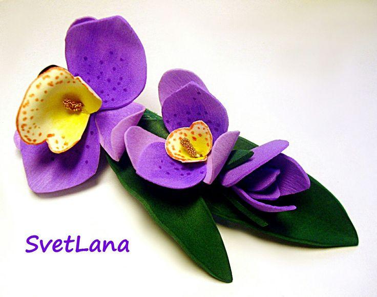 Орхидейная заколка