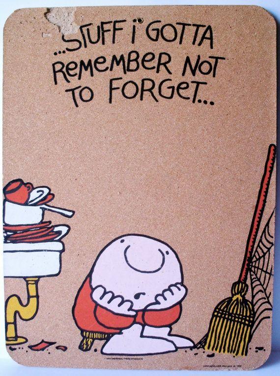 Damaged Ziggy Cartoon Cork Board by PoorLittleRobin on Etsy, $8.00