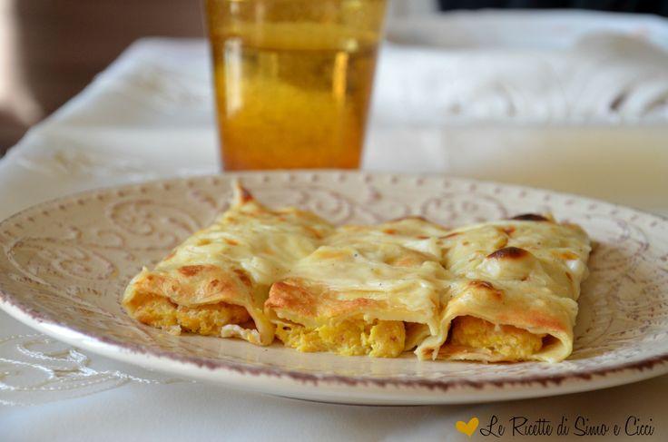 Cannelloni+di+crêpes+con+zucca+e+ricotta