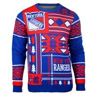 New York Rangers NHL 2015 Patches Ugly Crewneck Sweater: Represent your New York Rangers… #nhl #nfl #mlb #nba #sportsjerseys #sportsapparel