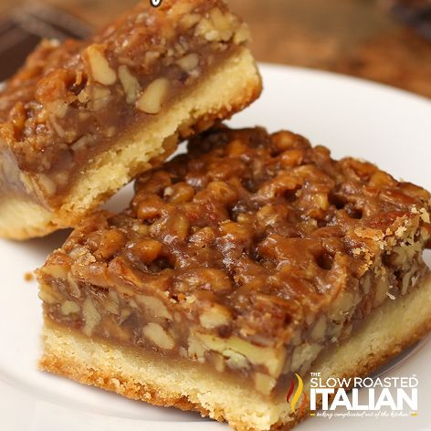 CHOOSE YOUR PAN SIZE- SCROLL DOWN FOR SMALLER PANS   Best Ever Pecan Pie Bars  makes a 12x18 pan (serves 24-36)      Crust 1 1/4 pounds (5 ...
