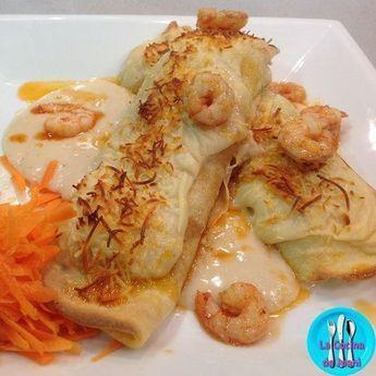 Crepes de pescado y marisco, sabrosa receta marinera que hará gozar a tu paladar.