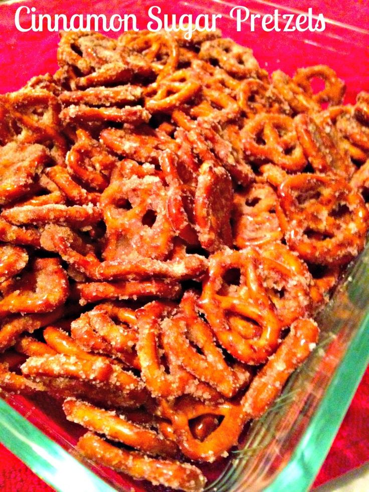 Easy cinnamon sugar pretzels. Warning: They are ADDICTIVE! Makes your whole home smell delicious