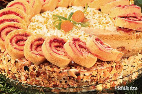 Adventi forraltborkrém-torta  hétfő  vacsora  370 Kcal