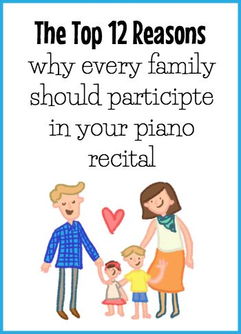 12 things you can share with your studio parents to educate them on the importance of recital participation.