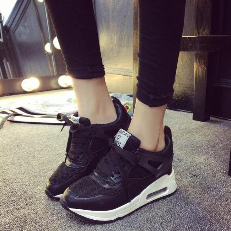 Cesta Femme 2015 Mulheres Almofada De Ar Sapatos de Malha Corrida Casual Sapatos de Plataforma Plana Sapatos de Inverno Femininos Chaussure Femme em Mulheres ' s sapatos casuais de Calçados no AliExpress.com | Alibaba Group