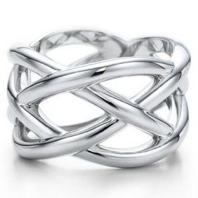 ▪☉⊙✪  Tiffany Rings Tiffany Rings Weave In Silver ,㊣☄¬ JUST GOT IT ON SALE!~` ♥…♥…♥