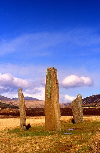 Prehistoric Machrie Moor Stone Circle in Isle of Arran