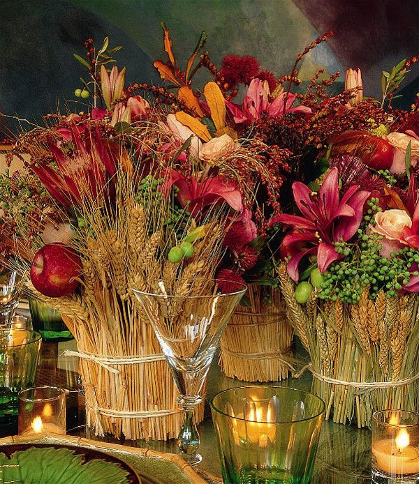 14 best images about 21 diy thanksgiving decorations and for Diy thanksgiving floral centerpieces