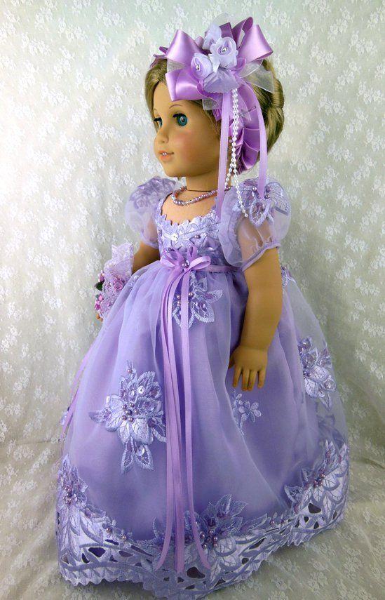 """Regency Jane Austen Gown Fits American Girl Caroline 18"""" Littlecharmersdoll   eBay"""