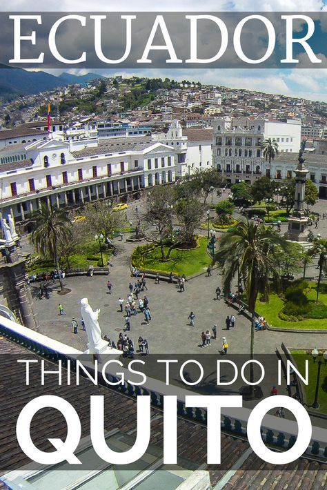 Top things to do in Quito, the high altitude capital of Ecuador. Quito travel into the Quito Old Town, is one of the top things to do in Quito. Visit the Quito market or the Telerifico cable car for the best views of Quito Ecuador. For more Quito travel inspiration visit our Ecuador Travel Guide.