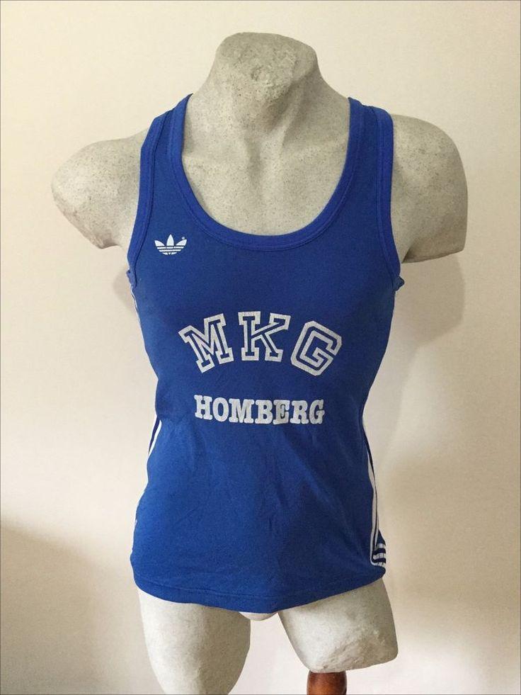 Maglia corsa adidas ventex mkg homberg athletic vest canotta running vintage