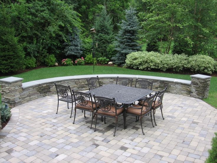 Patio Stone Walls : Images of patio stones paver stone seat wall