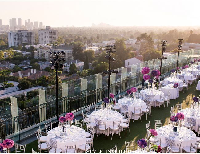 Julie Anne & Michael's Wedding, contemporary wedding, city vibe feeling, rooftop reception  love the different centerpieces