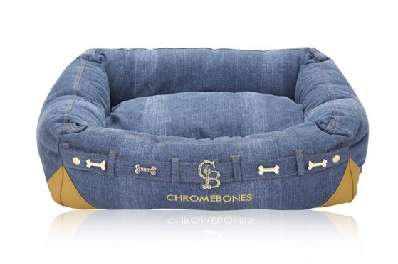 doggie bed made from old jeans