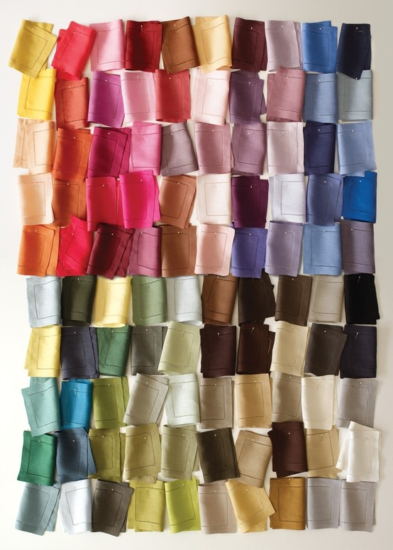 SFERRA's FESTIVAL European-woven table linens available in a palette of 101 colors!