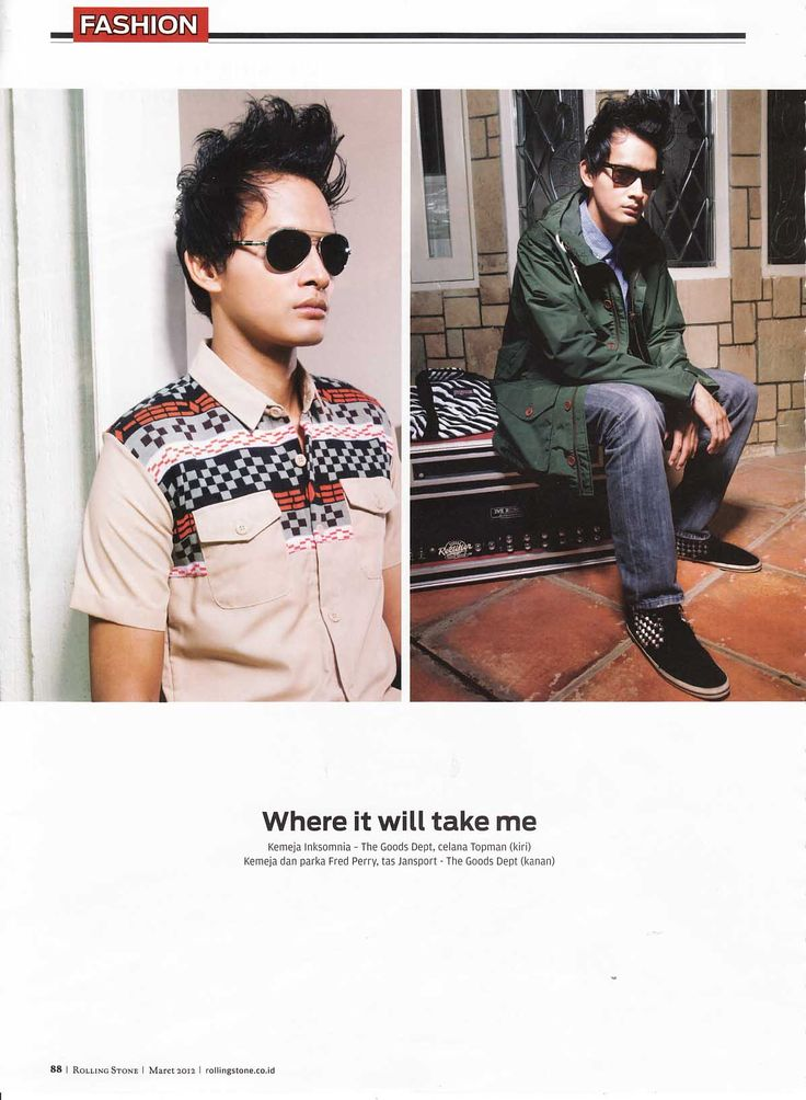 Fedi Nuril with Police Sunglasses for Rolling Stone Indonesia Magazine March 2012 Edition