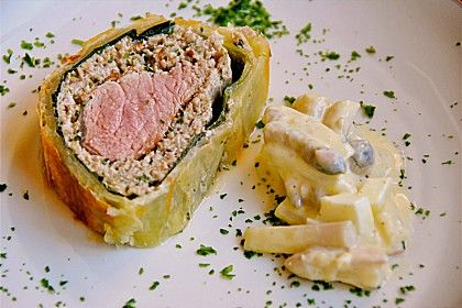 Schweinefilet in Blätterteig, ein schmackhaftes Rezept aus der Kategorie Festlich. Bewertungen: 46. Durchschnitt: Ø 4,4.