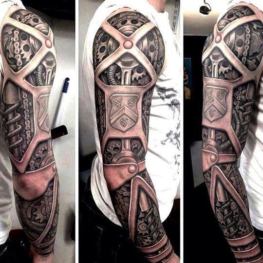 Mechanical Arm Tattoo