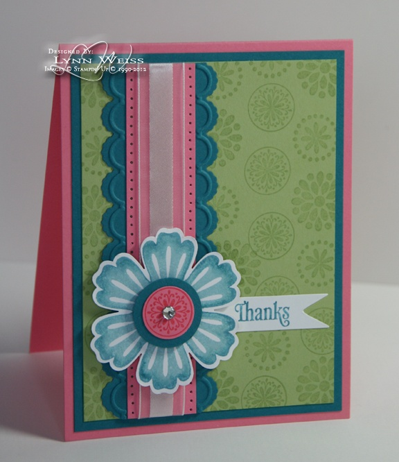 Nice use of the new edgeless diesColors Combos, Cards Ideas, Color Combos, Spring Colors, Mixed Bunch, Blossoms Punch, Stampin Up, Stamps Sets, Edgeless Die