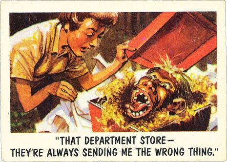 youll die laughing mad artist jack davis wonderfully funny horror trading cards - Davis Halloween Store