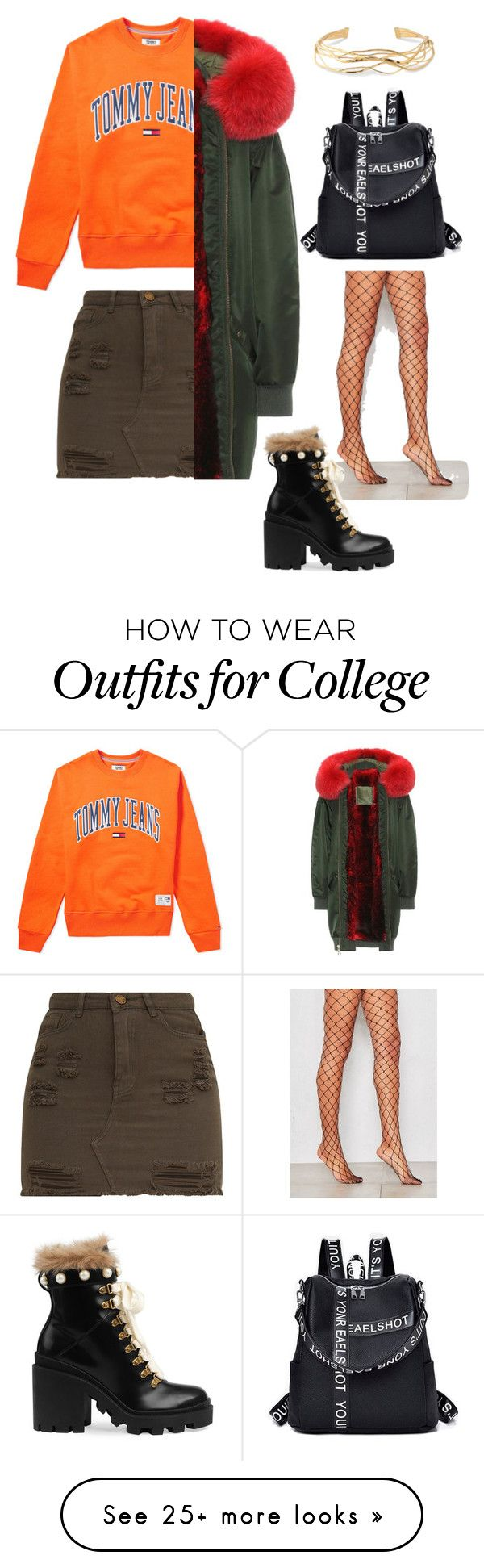 """""""Untitled #61"""" by stylezgalore on Polyvore featuring Tommy Hilfiger, Mr & Mrs Italy, Gucci, Aurélie Bidermann and statementcoats"""