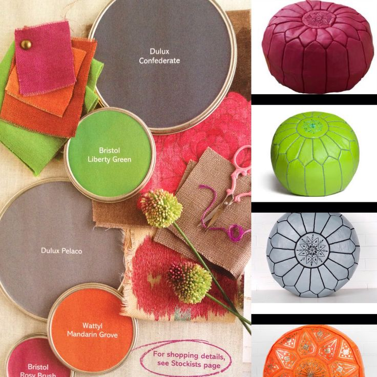 We have poufs to suit every colour trend.  www.moroccansunset.co.nz