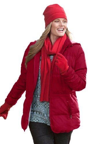 Woman Within Plus Size Jacket In Short Lightweight Feather Down $59.99 (57% OFF)