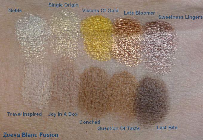 Zoeva Blanc Fusion palette - swatches