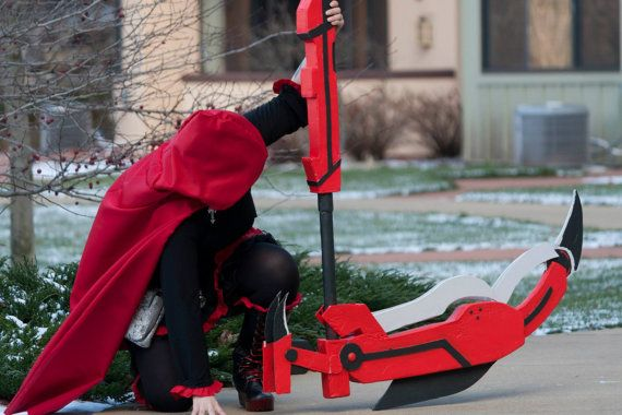 Crescent Rose RWBY scythe by ChaosFoxCostuming on Etsy